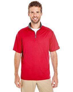 Mens Lightweight Half-Sleeve Quarter-Zip Performance Front Pullover