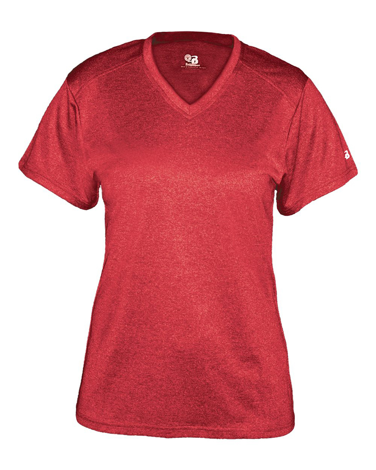 Ladie's Pro Heather V-Neck Tee-