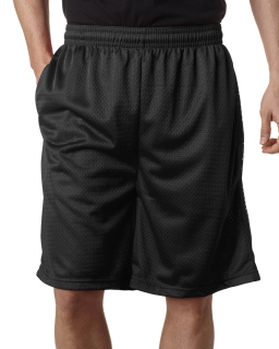 Adult Nine Inch Inseam Mesh/Tricot Short With Pockets-Badger