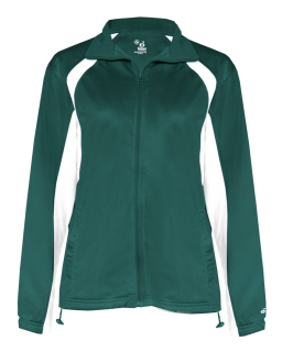 Ladies Brushed Tricot Hook Full-Zip Jacket