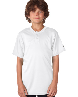 Youth Two-Button Performance Henley