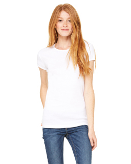 Ladies Baby Rib Short-Sleeve T-Shirt-Bella + Canvas