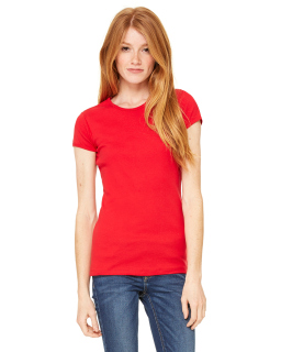 Ladies Baby Rib Short-Sleeve T-Shirt-Bella + Canvas