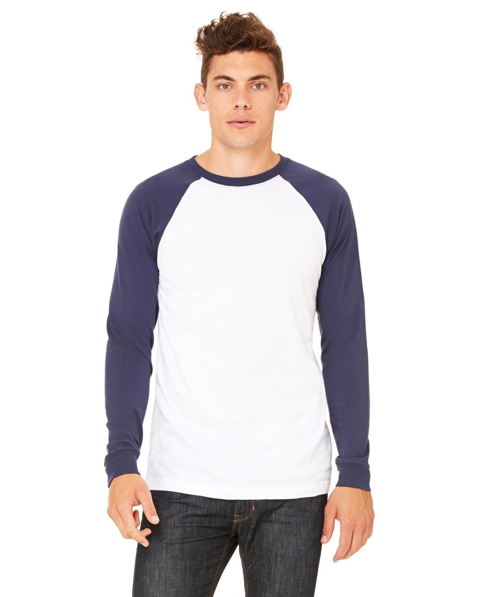 9556855f3c Buy Mens Jersey Long-Sleeve Baseball T-Shirt - Bella + Canvas Online ...