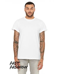 Fast Fashion Unisex Jersey Rolled Cuff T-Shirt-