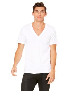 Unisex Jersey Short-Sleeve Deep V-Neck T-Shirt