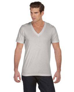 Unisex Jersey Short-Sleeve Deep V-Neck T-Shirt-