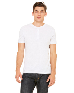 Mens Triblend Short-Sleeve Henley-Bella + Canvas