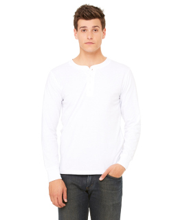 Mens Jersey Long-Sleeve Henley-