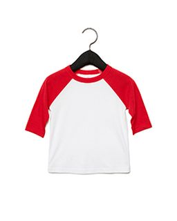 Toddler 3/4-Sleeve Baseball T-Shirt-Bella + Canvas