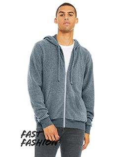 Adult Sueded Fleece Full Zip Hooded Sweatshirt-Bella + Canvas