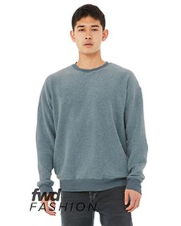 Unisex Sueded Drop Shoulder Sweatshirt-