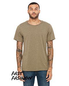 Fwd Fashion Unisex Triblend Raw Neck T-Shirt-Bella + Canvas