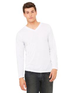 Unisex Jersey Long-Sleeve V-Neck T-Shirt