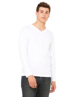 Unisex Jersey Long-Sleeve V-Neck T-Shirt-Bella + Canvas