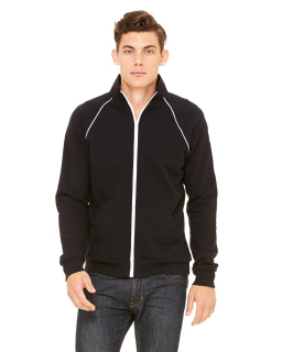 Mens Piped Fleece Jacket-Bella + Canvas