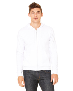 Unisex Poly-Cotton Fleece Full-Zip Hooded Sweatshirt-