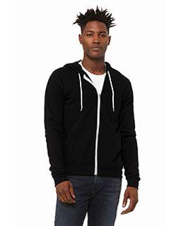 Unisex Poly-Cotton Fleece Full-Zip Hooded Sweatshirt-
