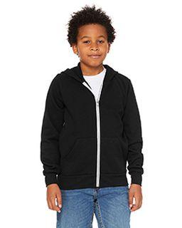 Youth Sponge Fleece Full-Zip Hooded Sweatshirt-Bella + Canvas