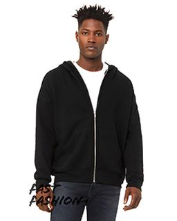Unisex Full-Zip Fleece With Zippered Hood-