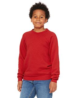 Youth Sponge Fleece Raglan Sweatshirt-Bella + Canvas