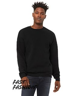 Unisex Crew Neck Sweatshirt With Side Zippers-