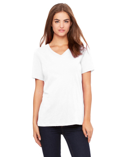 Ladies Relaxed Jersey Short-Sleeve V-Neck T-Shirt-