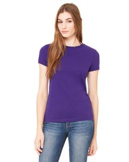 Ladies Poly-Cotton Short-Sleeve T-Shirt-