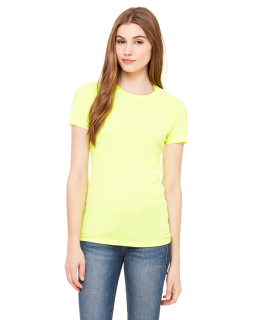Ladies Poly-Cotton Short-Sleeve T-Shirt-Bella + Canvas