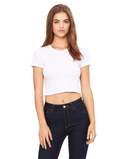 Ladies Poly-Cotton Crop T-Shirt-