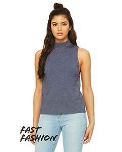 Fast Fashion Ladies Mock Neck Tank-Bella + Canvas