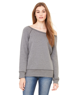 Ladies Sponge Fleece Wide Neck Sweatshirt-
