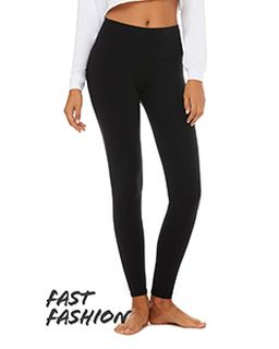 Fast Fashion Ladies High Waist Fitness Legging-Bella + Canvas