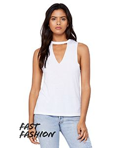 Fast Fashion Ladies Cut Out Tank-Bella + Canvas