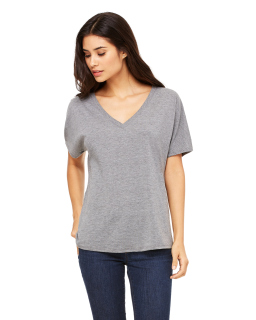 Ladies Slouchy V-Neck T-Shirt-Bella + Canvas