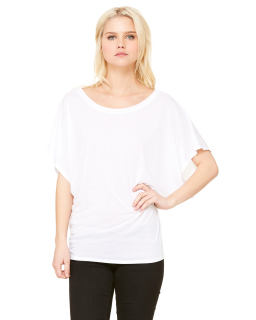 Ladies Flowy Draped Sleeve Dolman T-Shirt-