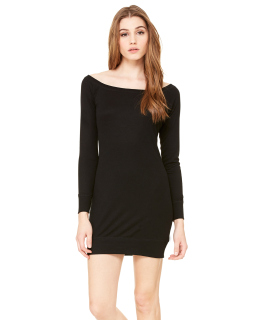 Ladies Lightweight Sweater Dress-Bella + Canvas