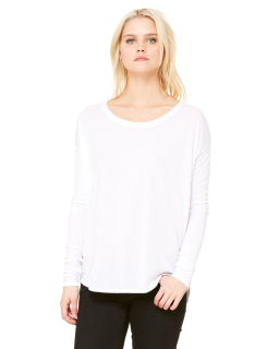 Ladies Flowy Long-Sleeve T-Shirt With 2x1 Sleeves-