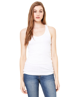 Ladies 2x1 Rib Racerback Longer Length Tank-