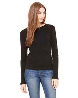 Ladies Stretch Rib Long-Sleeve T-Shirt-
