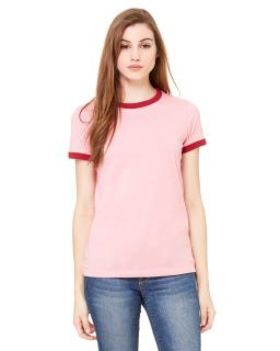 Ladies Jersey Short-Sleeve Ringer T-Shirt-