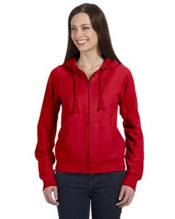 Ladies Fleece Full-Zip Raglan Hoodie-