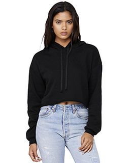 Ladies Cropped Fleece Hoodie-