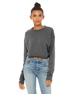 Ladies Cropped Fleece Crew-