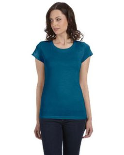 Ladies Sheer Jersey Short-Sleeve T-Shirt-