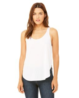 Ladies Flowy Side Slit Tank-