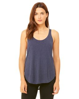 Ladies Flowy Side Slit Tank