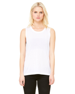 Ladies Flowy Scoop Muscle Tank-