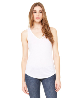 Ladies Flowy V-Neck Tank-Bella + Canvas