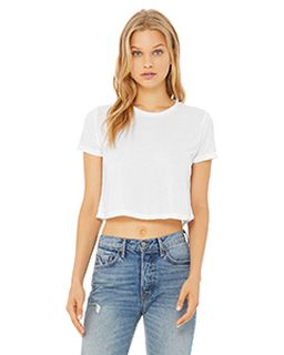 Ladies Flowy Cropped T-Shirt-